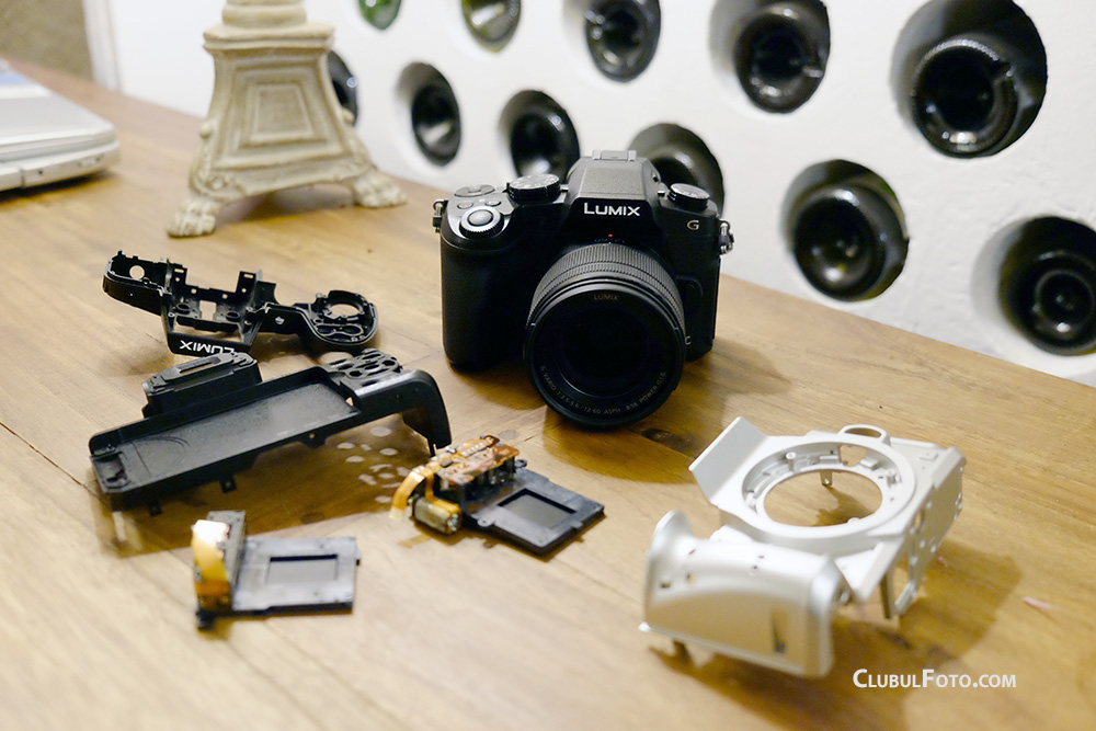 Panasonic G80 si structura sa din aluminiu - unul din aparatele Panasonic rezistente la apa, praf si intemperii