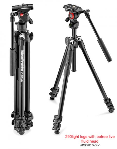 Manfrotto 290LTA cu capul video fluid BeFree