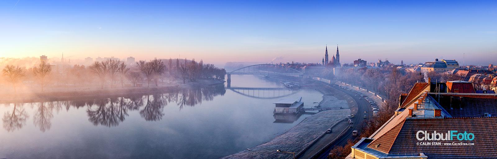 Cand ceilalti nu si-au baut cafeaua: panorama matinala asupra orasului Szeged