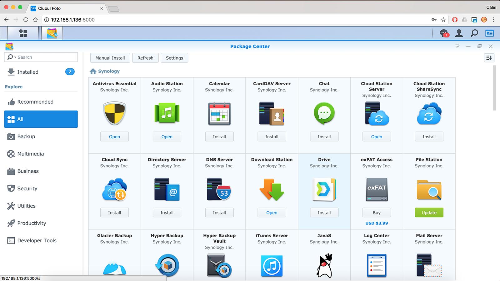 Aplicatiile ce pot fi instalate si utilizate pe NAS