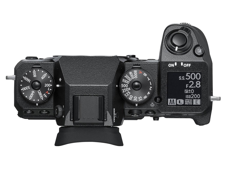 Fujifilm X-H1, un body cu ecran LCD monocrom dedicat afisarii parametrilor de expunere