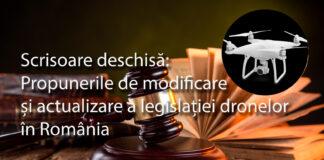 Scrisoare deschisă: Propunerile de modificare și actualizare a legislației dronelor în România
