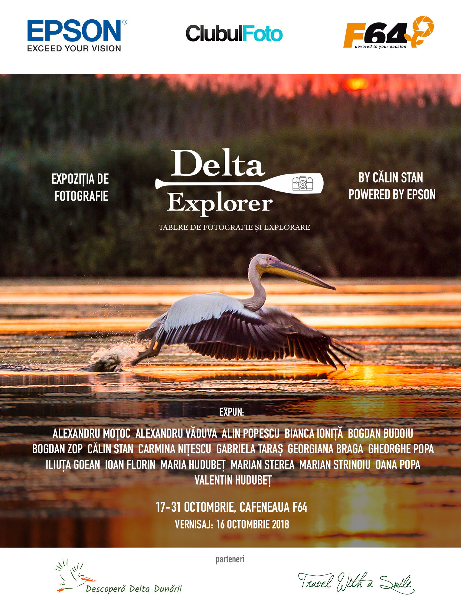 Vernisajul expozitiei foto Delta Explorer are loc pe 16 Octombrie, incepand cu ora 19, in sala de expozitii F64