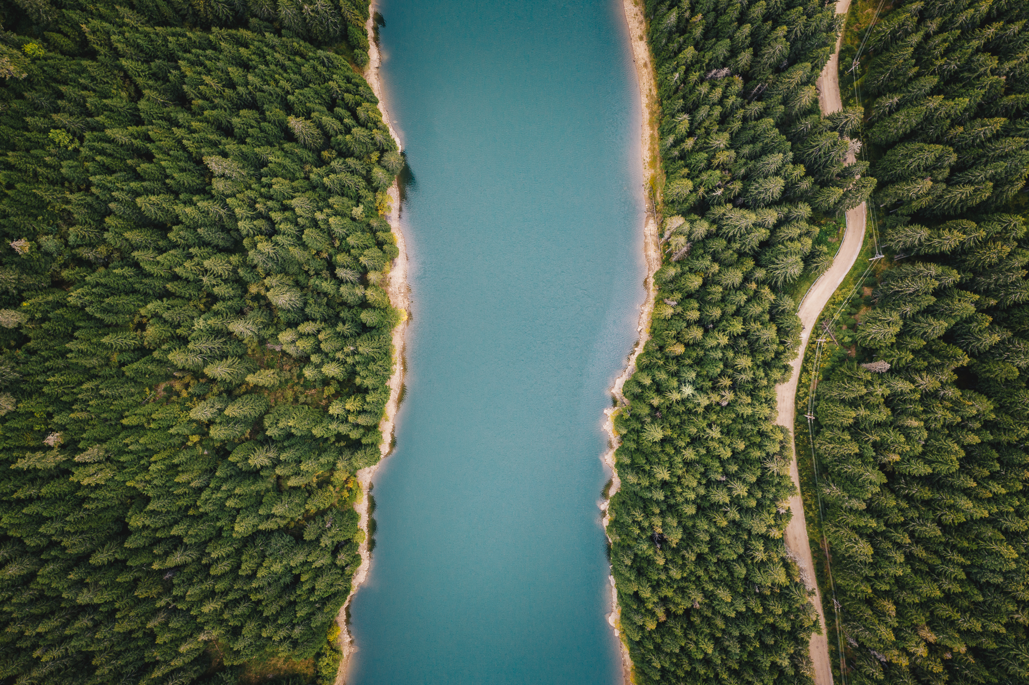 Lacul Bolboci, cu Mavic 2 Pro